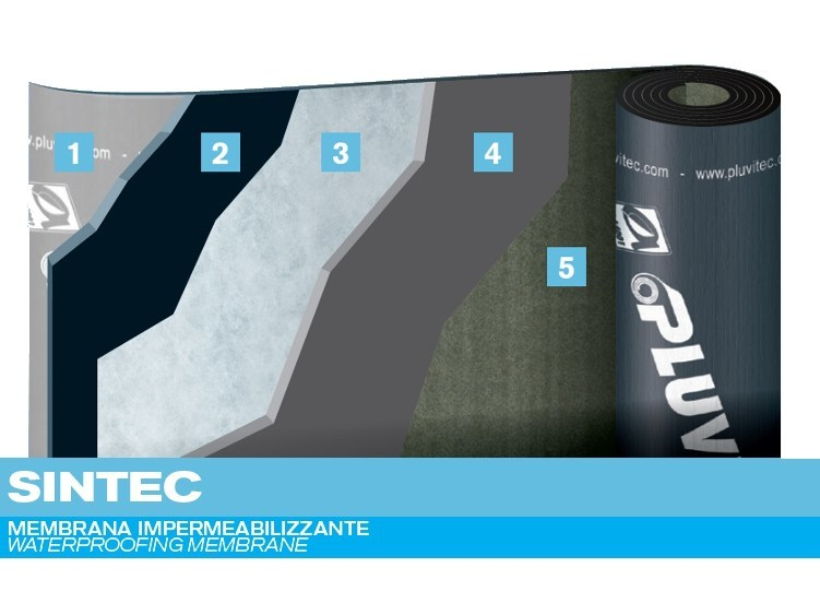 Prefabricated bituminous membrane SINTEC - PLUVITEC