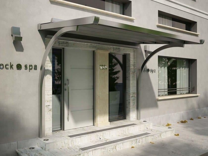 Steel door canopy SINTESI ARCHI by HELLA