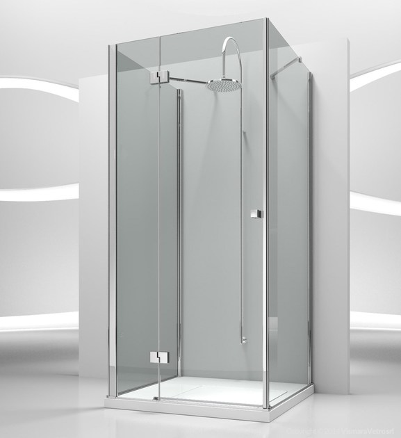 Custom tempered glass shower cabin SINTESI SA+SF+SG - VISMARAVETRO