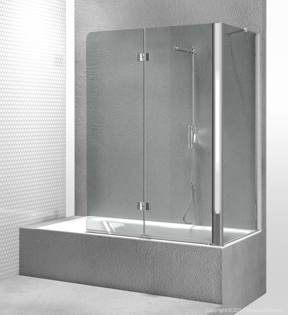 Folding glass bathtub wall panel SINTESI SV+SI - VISMARAVETRO