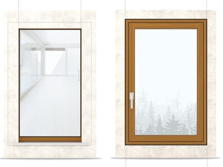 Finestra a battente a filo muro in legno e alluminio - Finestre filo muro ...