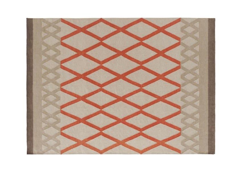 Wool rug with geometric shapes SIOUX - GAN By Gandia Blasco
