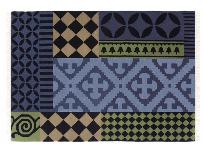 Rectangular wool rug SIRACUSA by GAN