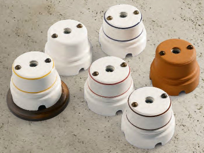 Single ceramic electrical outlet SIRIO | Coaxial socket - Aldo Bernardi