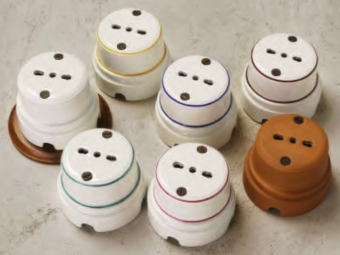Single ceramic electrical outlet SIRIO | Electrical outlet - Aldo Bernardi