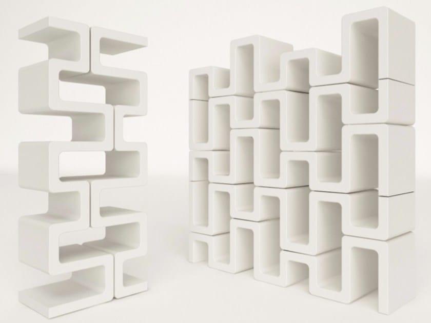Double-sided sectional Adamantx® bookcase SISMA - ZAD ITALY