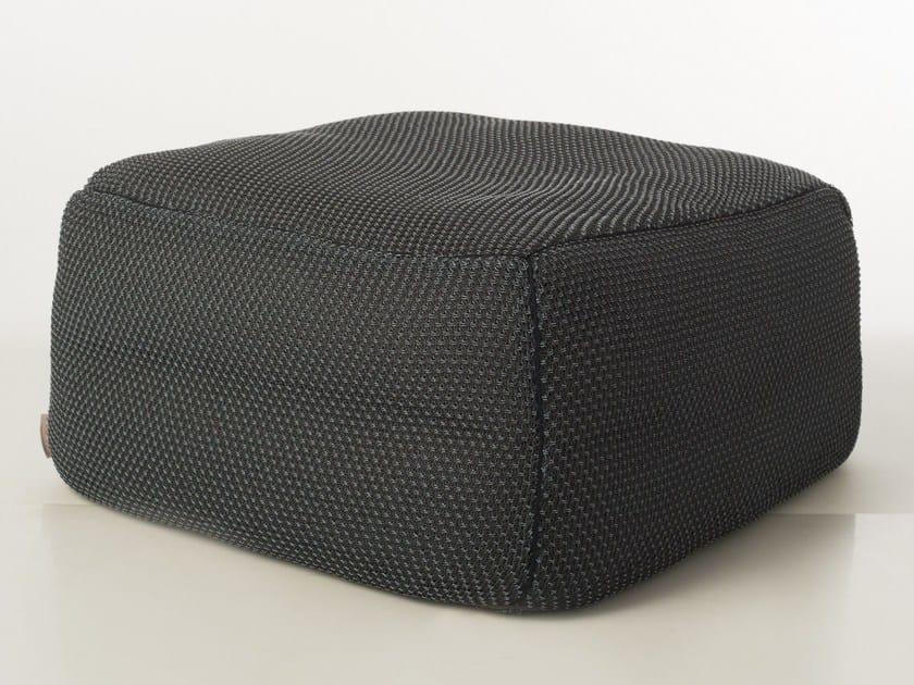 Square PVC garden pouf SITE KNIT by Warli