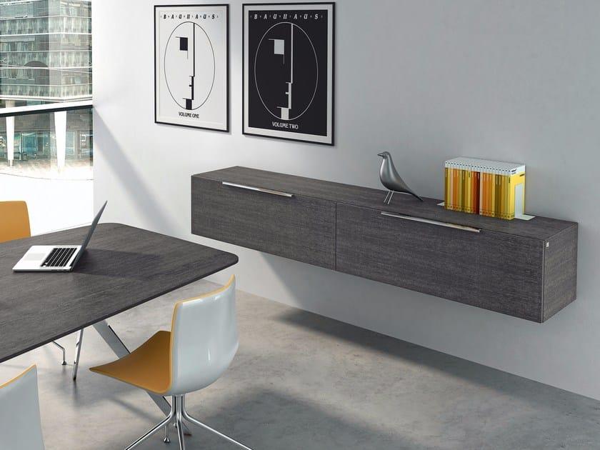 Wooden office storage unit SITE | Office storage unit by RENZ