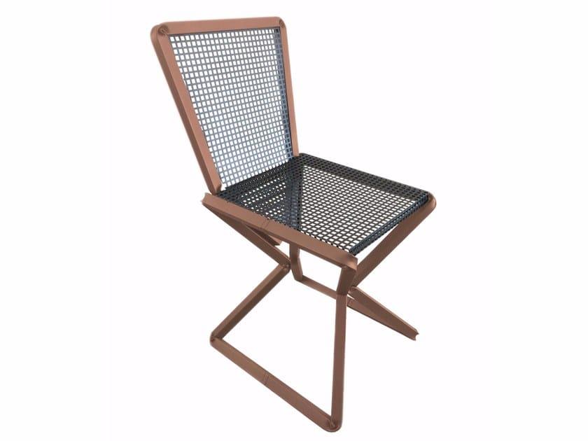 Perforated metal chair SITT_IN - Castellani.it