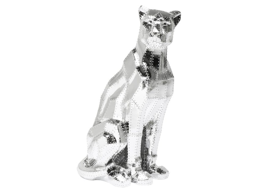 Soprammobile in resina SITTING CAT RIVET CHROME by KARE-DESIGN