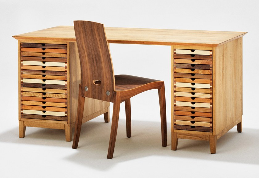 Wooden writing desk with drawers SIXTEMATIC | Writing desk by sixay furniture