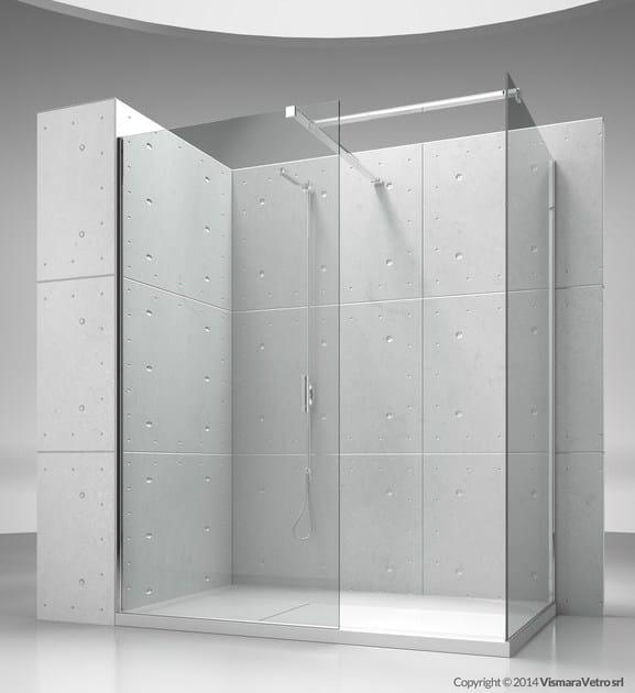 Corner custom crystal shower cabin SK-IN SK+SK by VISMARAVETRO
