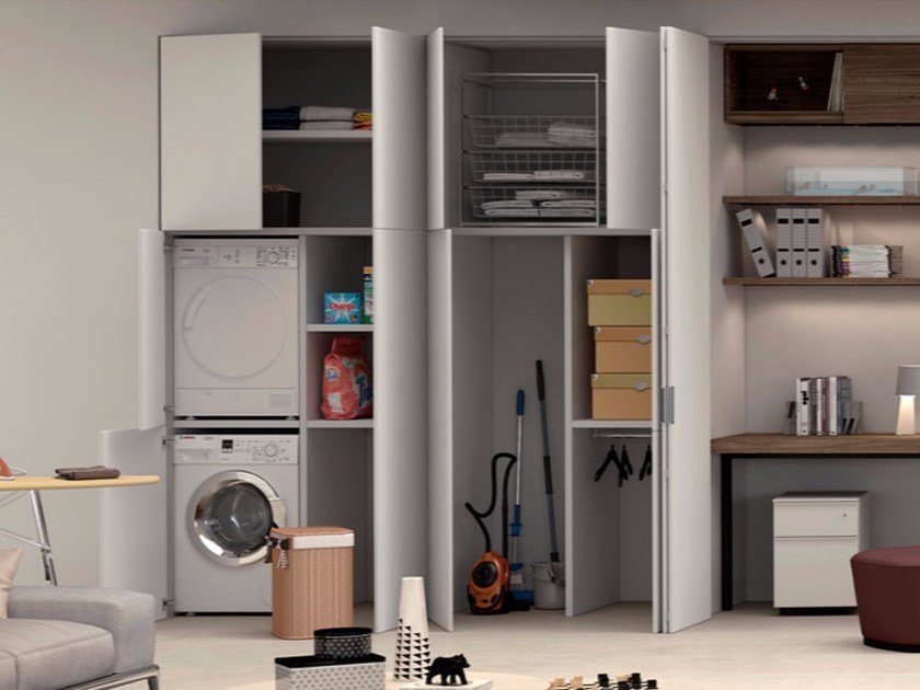 MDF flush-to-the-wall door system SKEMA INFINITO by FERREROLEGNO