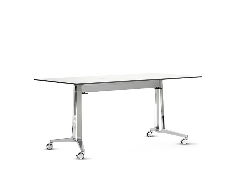 Folding rectangular table with casters SKILL - Wiesner-Hager