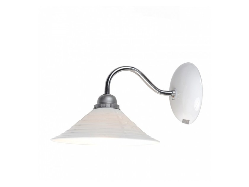 Direct light porcelain wall lamp with fixed arm SKIO | Wall lamp - Original BTC
