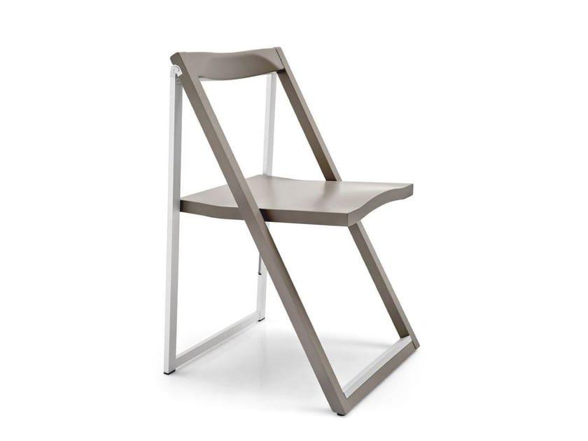 Folding beech chair SKIP - Calligaris