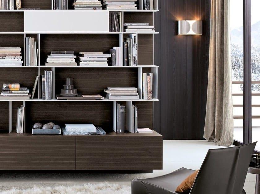 Mueble modular de pared modular de madera con soporte para for Diseno de muebles de madera pdf