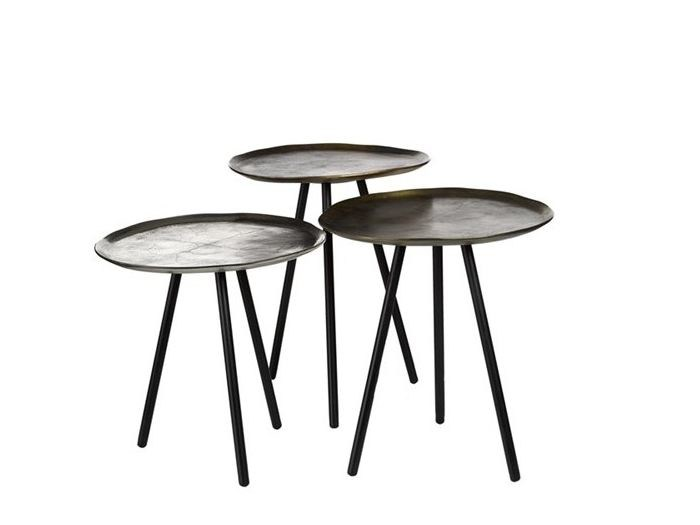 Round metal side table with tray SKIPPY - Pols Potten