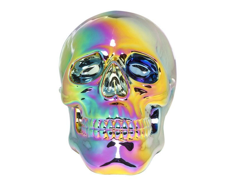 Porcelain decorative object SKULL RAINBOW - KARE-DESIGN