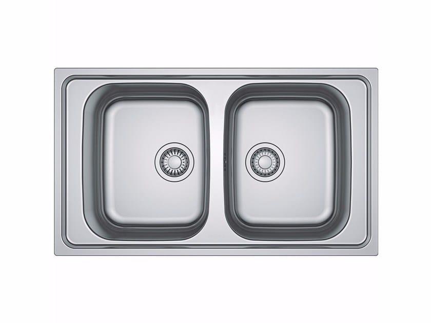 Lavello a 2 vasche da incasso in acciaio inox SKX 620 - FRANKE