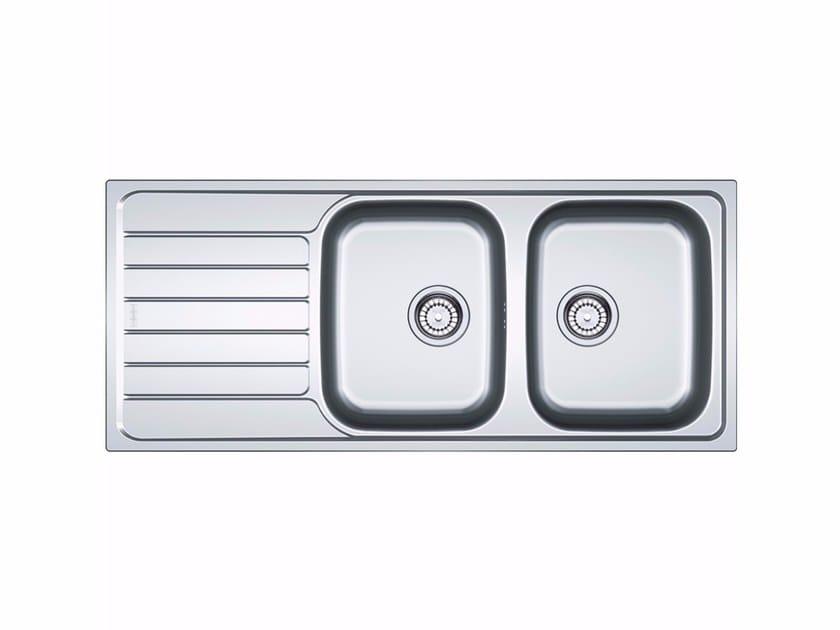 Lavello a 2 vasche da incasso in acciaio inox con sgocciolatoio SKX 621 - FRANKE