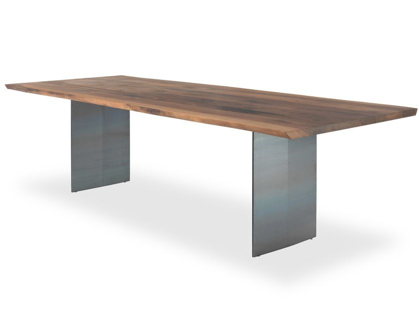 Rectangular solid wood table SKY-NATURA by Riva 1920
