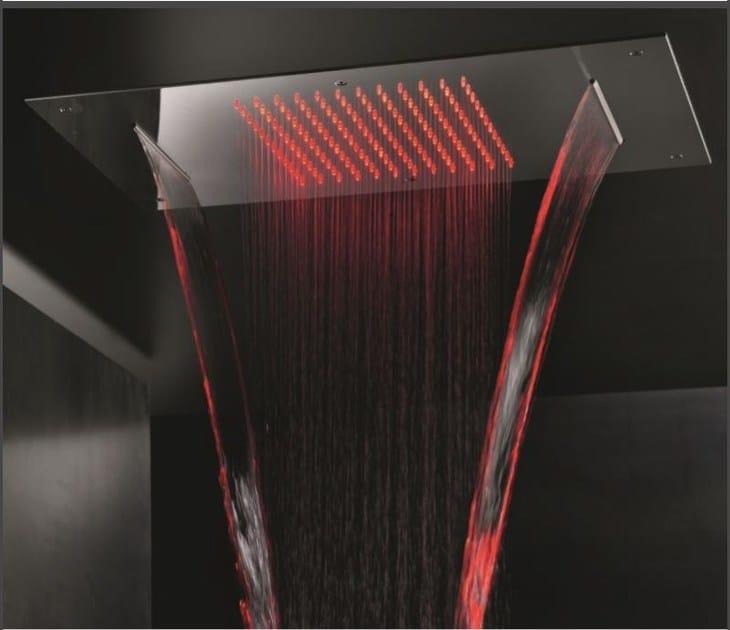 Soffione da soffitto in acciaio shower head miscelatore - Doccione per doccia ...