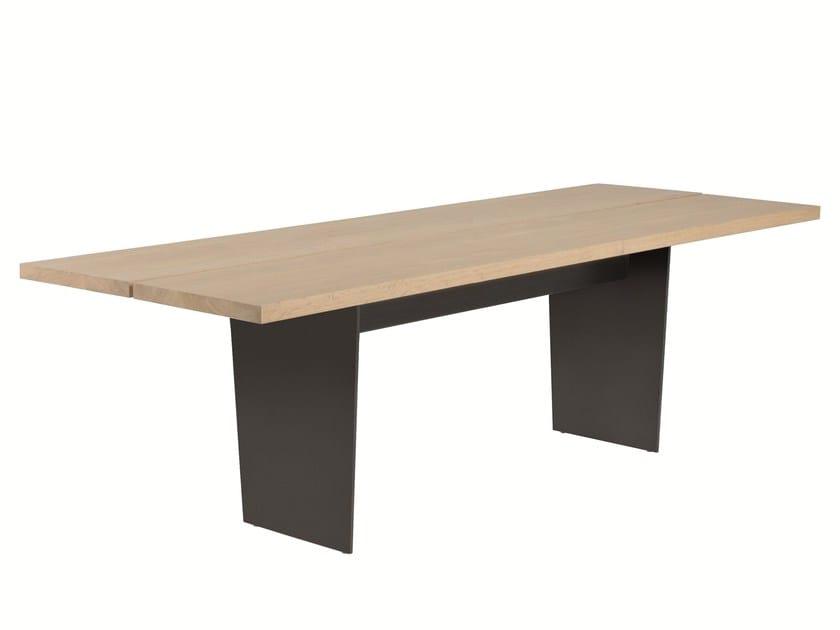 Rectangular dining table SLATS by EXPORMIM