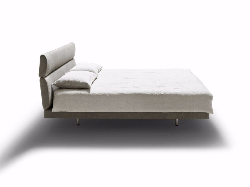 Double bed with removable cover with high headboard SLEEPING CAR - DE PADOVA