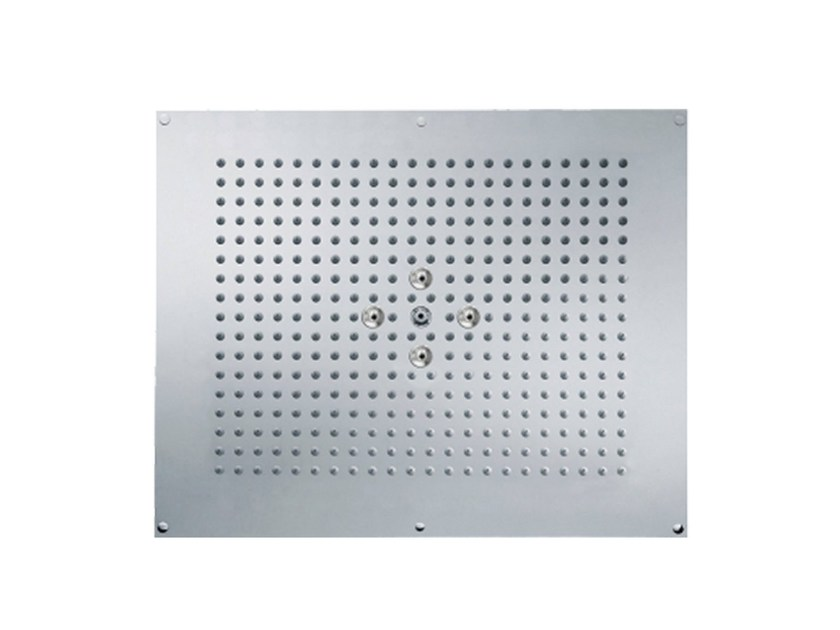 Ceiling mounted 2-spray rain shower SLIDE | Built-in overhead shower by rvb