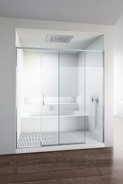 Shower cabin with sliding door SLIDE - MAKRO