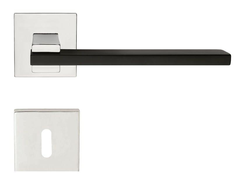 Contemporary style brass door handle SLIM | Brass door handle - LINEA CALI'