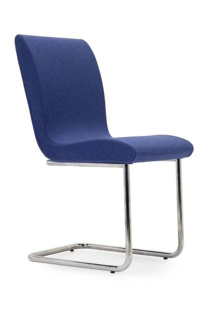 Cantilever upholstered fabric chair SLIM CHAIR | Cantilever chair - Domingo Salotti