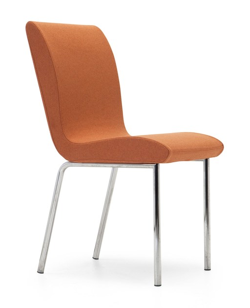 Upholstered fabric chair SLIM CHAIR | Chair - Domingo Salotti