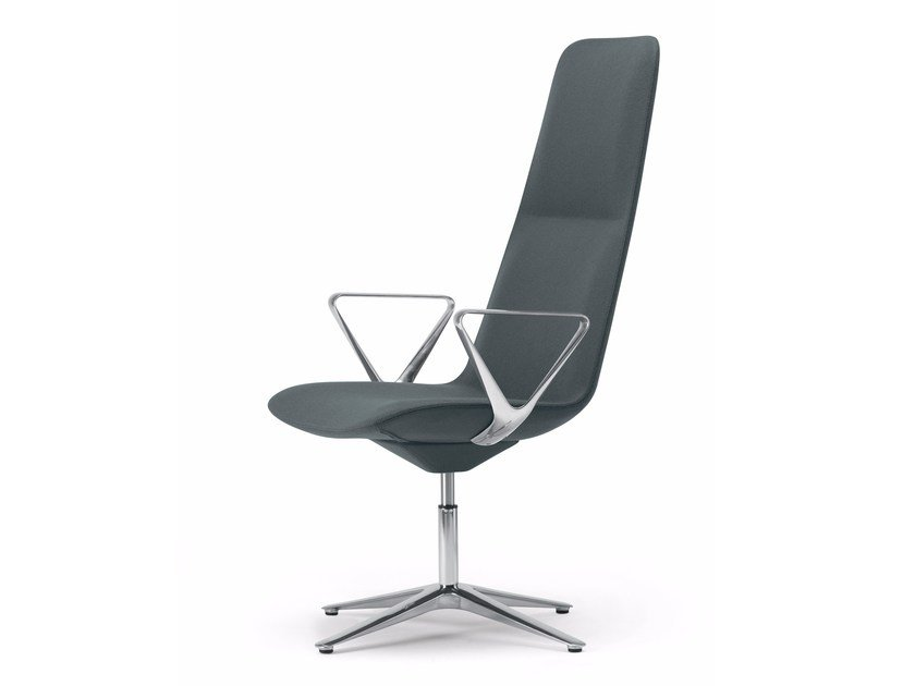Swivel height-adjustable chair with 4-spoke base SLIM CONFERENCE HIGH 4 - 813 by Alias