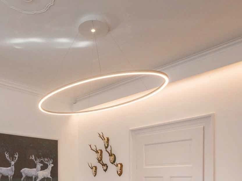 LED aluminium pendant lamp SLIM ELLIPSE - Sattler