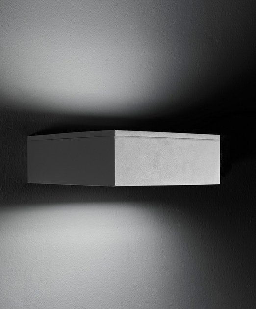 Direct-indirect light die cast aluminium wall lamp SLIM F.8278 - Francesconi & C.