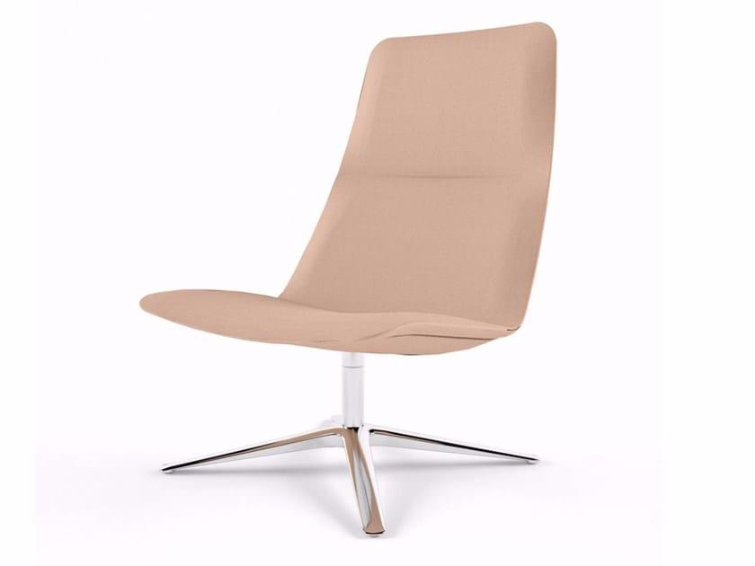 Swivel armchair with 4-spoke base SLIM LOUNGE HIGH - 817 - Alias