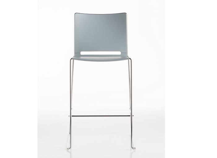 Sled base counter stool with footrest SLIM | Counter stool - D.M.