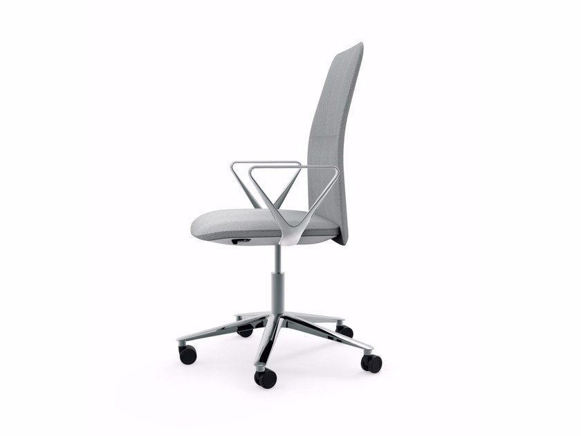 Swivel height-adjustable chair with armrests SLIM TASK - 801 by Alias