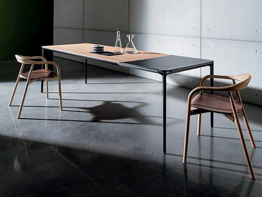 Extending wooden table SLIM WOOD | Extending table - SOVET ITALIA