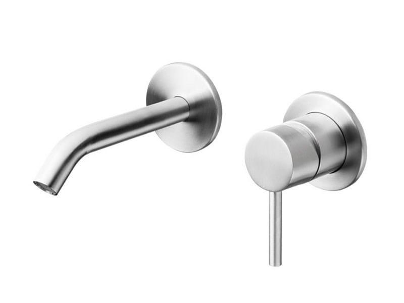 2 hole wall-mounted stainless steel washbasin mixer SLIMLINE BASIN WALL - JEE-O