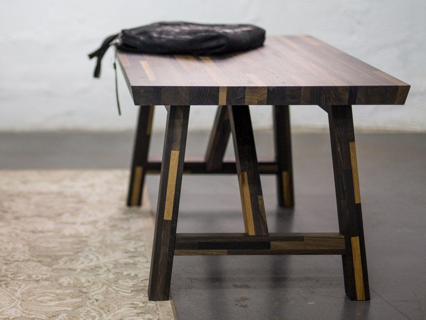 Bog oak coffee table SMALL INDUSTRIAL by EDWOOD