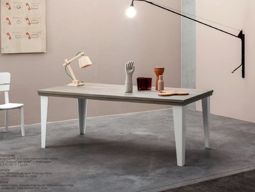 Rectangular solid wood table SMART + - Devina Nais