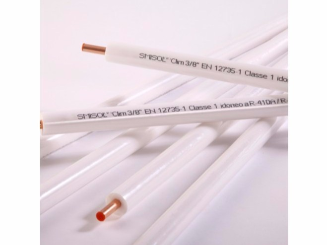 Pipe for air conditioning unit and for domestic gas network SMISOL® Clim - Serravalle Copper Tubes