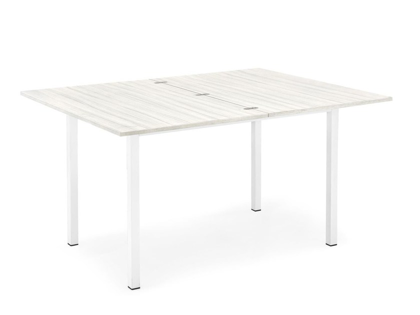 Extending melamine-faced chipboard table SNAP BOOK - Calligaris