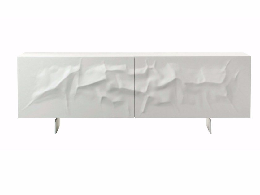 Krion® sideboard with coplanar doors SNOW - ROCHE BOBOIS