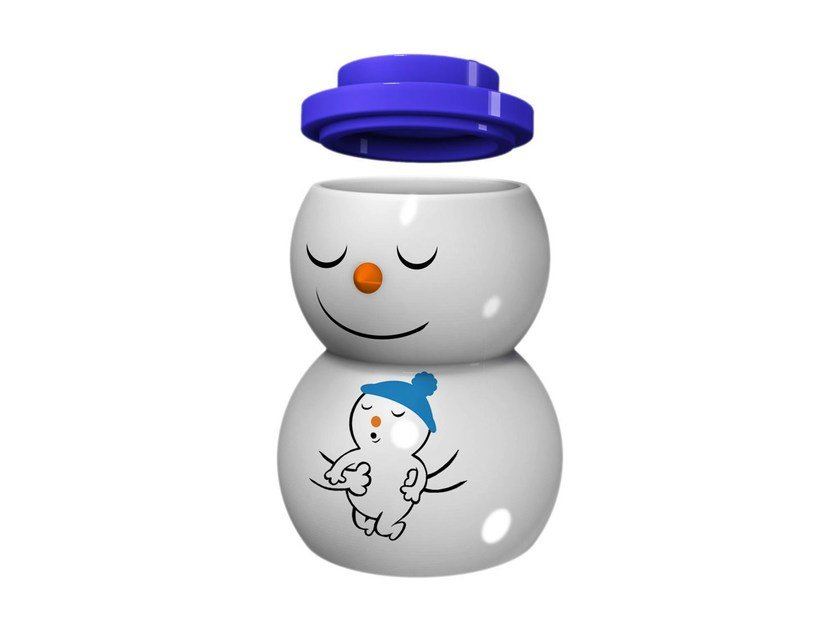 Porcelain candle holder SNOWDADDY - ALESSI