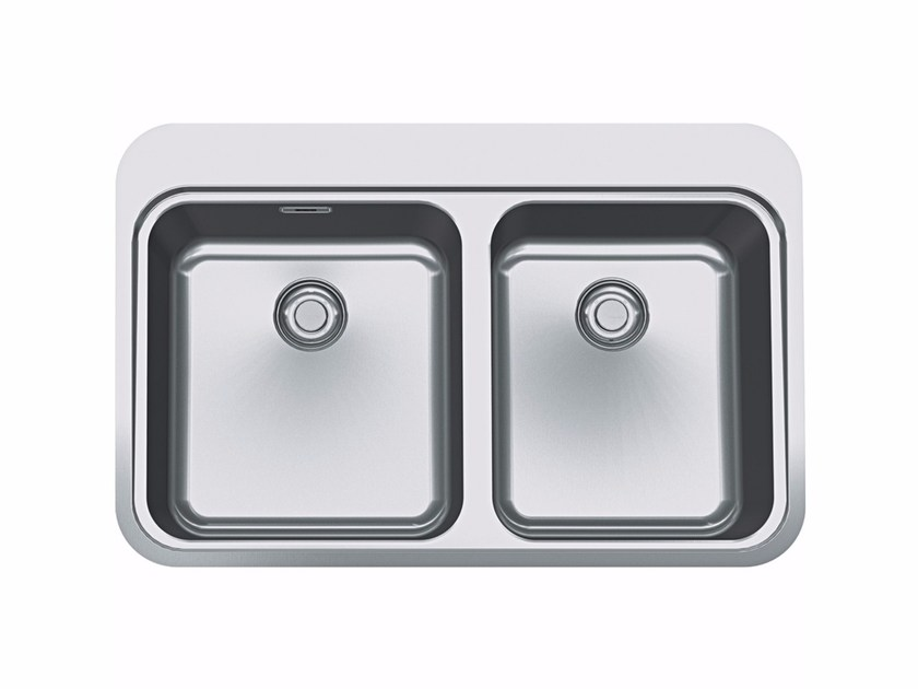 Lavello a 2 vasche da incasso in acciaio inox SNX 220 - FRANKE