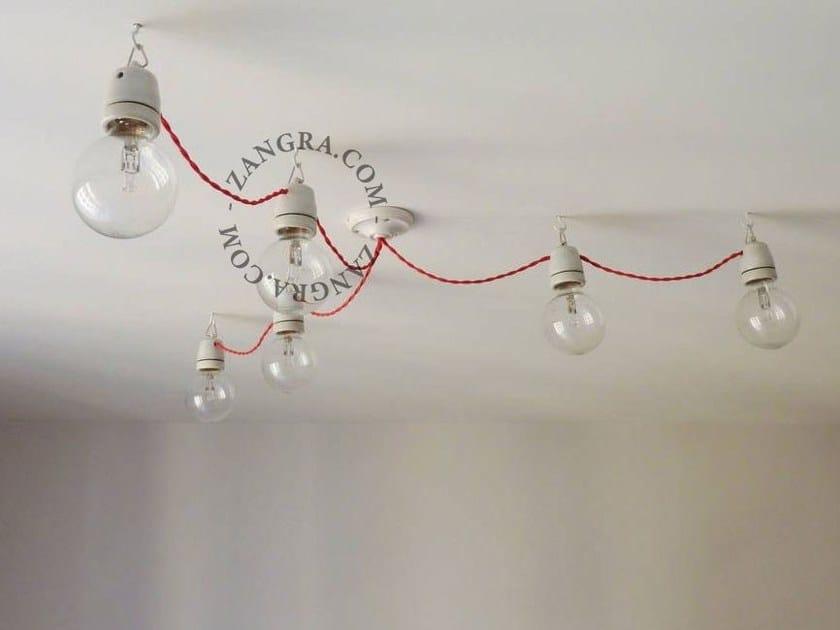 Lampada a sospensione a luce diretta in porcellana SOCKET 018 | Lampada a sospensione - ZANGRA